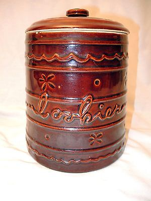 Vintage Marcrest Daisy Dot Cookie Jar - Stoneware Pottery - USA