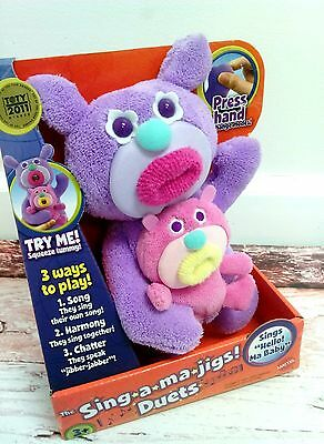New Sing-A-Ma-Jigs Singamajigs Duets Singing Toy