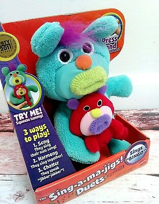 New Sing-A-Ma-Jigs Singamajigs Duets Singing Toy Teal Red