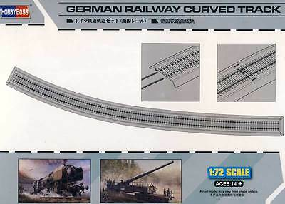 Hobby Boss Rails Track bed Tracks assembled approx. 112cm Curve 1:72 model kit