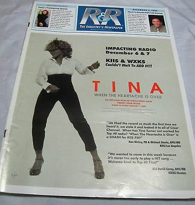 Radio & Records Newspaper Jan 7 1999 Tina Turner When The Heartache Is Over