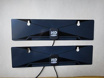 2X-Digital Indoor VHF UHF Ultra Thin Flat TV Antenna for HDTV 1080P DTV HD T US