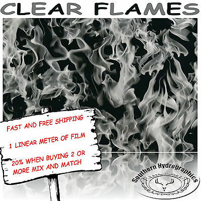 Hydrographic Water Transfer Hydrodipping Film Hydro Dip Clear Flames Hydro Film