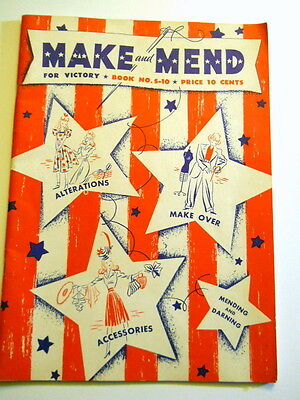 Make and Mend for Victory Book No. S-10 Sewing 1942 WW2 Home Front War Effort