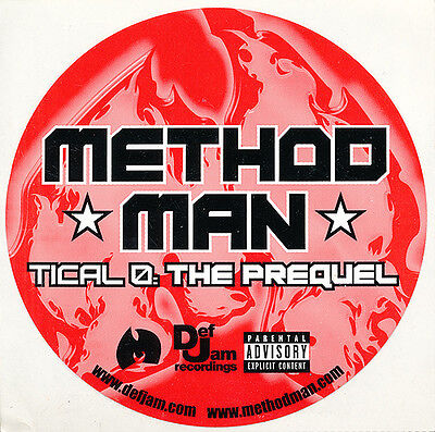 Method Man Tical 0: The Prequel RARE promo sticker '04