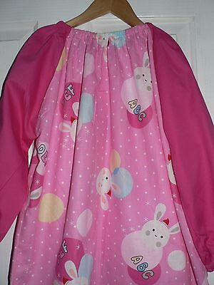 Kids Art Smocks ABC Print 4 To 7 Years old (Pink Colour)