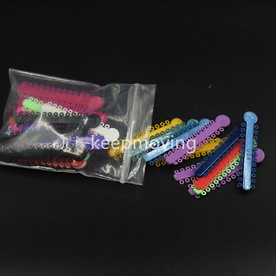 1008 Pcs Dental Ligature Ties Orthodontics Elastic Multi Color Rubber Bands