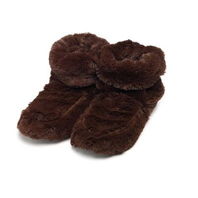 Cozy Body Microwaveable Therapeutic Slipper Boots, Brown, by Intelex