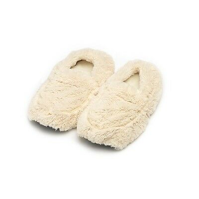 Cozy Body Microwaveable Therapeutic Slippers, Cream, by Intelex