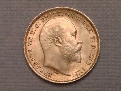 - 1902 Great Britain  Edward VII Threepence choice Uncirculated Unc