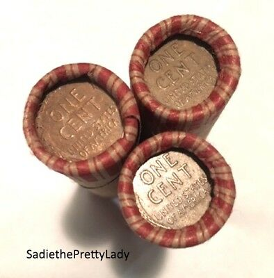 3 Unsearched Wheat Penny Old Us Coin Small Cents Lot Lincoln Cents Rolls $$$