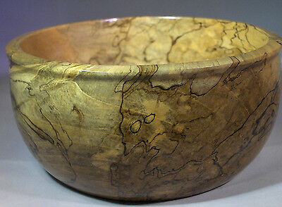 Turned Spalted Citrus Wood Bowl, Tree Downed By Hurricane Charley 2004 Handmade