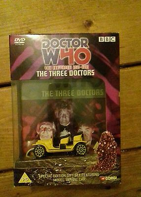 Doctor Who The Three Doctors DVD 2003 Corgi Bessie 40th Special Edition Gift Set