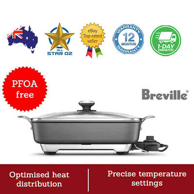 Banquet Electric Frypan Non Stick Thermal Pro Breville Fry Pan Large Size NEW