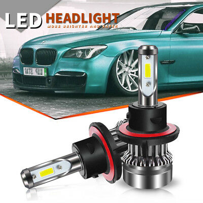 Total 50W H13/9008 6000K LED Headlight 12v Car Upgrade Conversion Bulbs kit