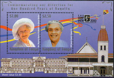 Tonga 2000 SGMS1472 Queen Mother and Queen Saole Tupou III MS MNH