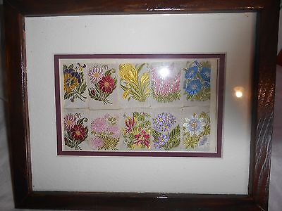 Small modern embroidery , in frame, from America?