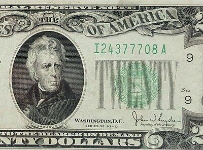 1934D 20 Minneapolis Version 2 Late Federal Reserve Note