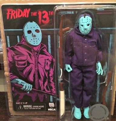 """NECA FRIDAY THE 13th - JASON VOORHEES - 8"""" CLOTHED CLASSIC VIDEO GAME FIGUR  NEU"""