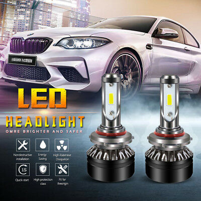 Pair CSP 9005 HB3 50W 8000LM LED Headlight Bulbs 6500K White Fit Ford Jeep Honda