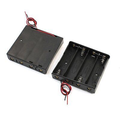 2pcs Plastic Storage Case 4x18650 3.7V Battery Holder BF