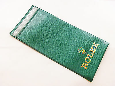 Vintage Rolex Watch Plastic Travel Case Service Bag - OLD TYPE - Very RARE!