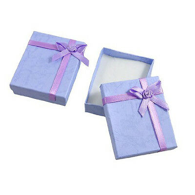 2 Boxes Bowtie Accent Cardboard Gift Cases Present Boxes Bracelet Holder BF