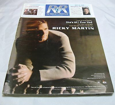 Radio & Records Newspaper Jul 16 1999 Ricky Martin She's All I Ever Had