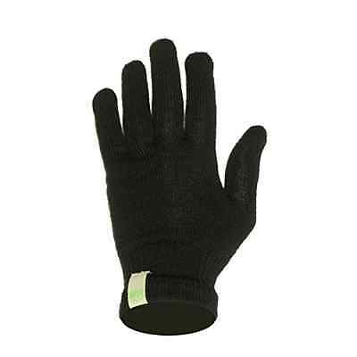 Minus33 Merino Wool Glove Liner Black Black Medium Training Sporting Goods Fitn