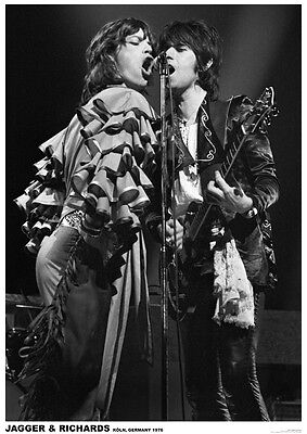Keith Richards & Mick Jagger Live '76 Poster  23.5 x 33 UK Import Rolling Stones