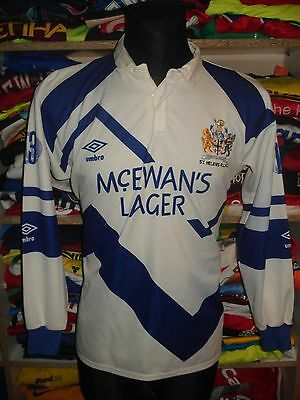 ST HELENS 1991 RUGBY SHIRT SIZE M UMBRO Mc EWANS LAGER JERSEY LEAGUE  (f38)