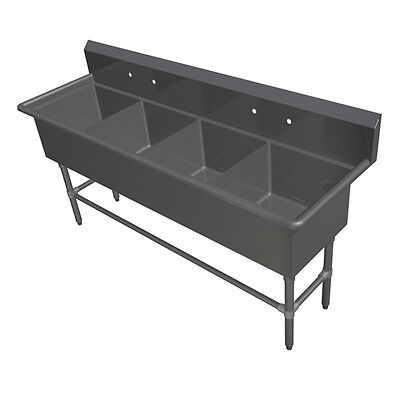 """John Boos 4PB244 4 Compartment 24"""" x 24"""" Stainless Steel Pro-Bowl Sink"""
