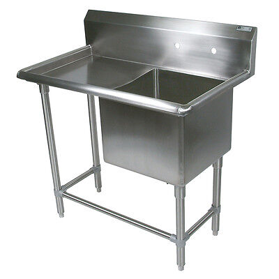 """John Boos 1PB30244-1D30L 1 Compartment 30"""" x 24"""" Stainless Steel Pro-Bowl Sink"""