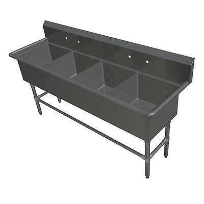 """John Boos 4PB18244 4 Compartment 18"""" x 24"""" Stainless Steel Pro-Bowl Sink"""