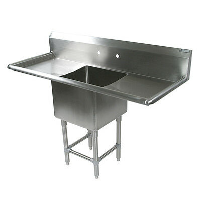 """John Boos 1PB18244-2D24 1 Compartment 18"""" x 24"""" Stainless Steel Pro-Bowl Sink"""