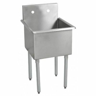 """John Boos 1 Compartment 18""""w X 18"""" Stainless Steel Budget Sink - B1S8-18-14-X"""