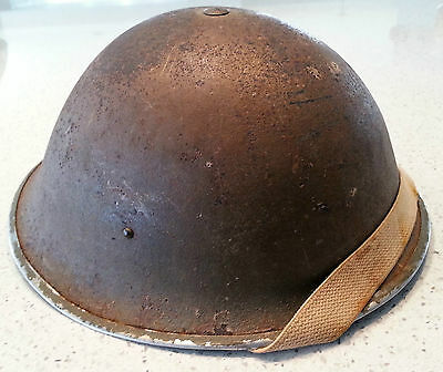 RARE WW2 British MKIII helmet used by Canadian on D-Day