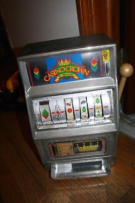 Casino Crown Slot Machine Bank Waco Made In Japan Vintage Working