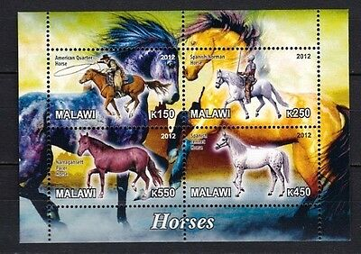 Bloc feuillet Neuf ** MNH - Malawi 2012 - Chevaux Horses