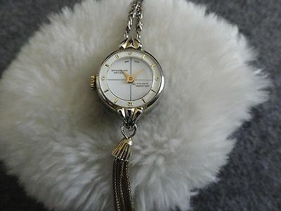 Swiss Made Waldman Electra Wind Up Necklace Pendant Watch
