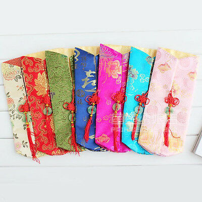 Wholesale10pcs Chinese Handmade Silk Wine Bottle Cover With Chinese Knot