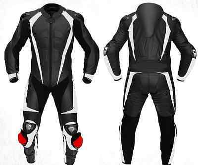 1 OR 2 PC Cowhide Leather Suit Motorbike Leather Suit Racing Titanium Armour