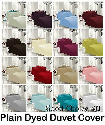 Plain Duvet Cover & Pillow Case Quilt Cover Bedding Single Double King & S.KING