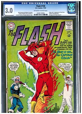 Flash #140 Cgc 3.0 Blue First Appearance Of Heat Wave Silver Age