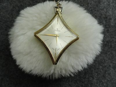 Vintage Swiss Made Endura Wind Up Necklace Pendant Watch with a Pretty Chain
