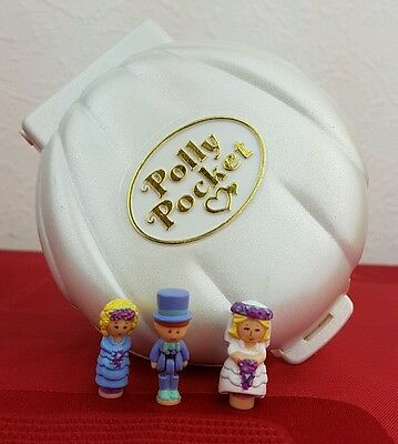 Vintage Polly Pocket Nancy's Wedding Day Musical Collection Complete Excellent