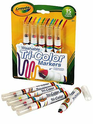 Crayola Washable Tri Colour Markers (Tri Color Markers) - 5 pack