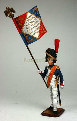 Tin Soldier, collector quality, Colour Guard of French Grenadier Guards, 54 mm