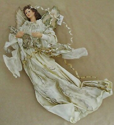 "NEW Exquisite Celestial 14"" Angel Figure Hand Crafted & Painted by LivingQuarter"
