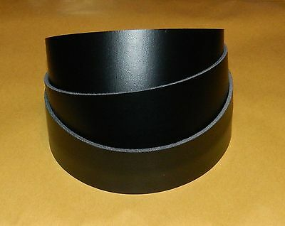 Matt Black Leather Strap 50+ Inch - From 1/2 Inch To 4 Inch Wide - Belts Larp